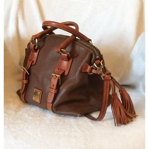 Dooney & Bourke Brown Pebble Leather Satchel